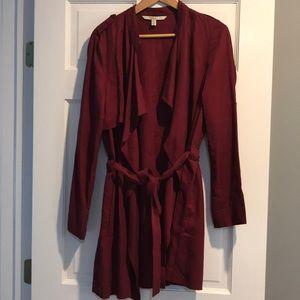Zara Trench Coat Burgundy Size Med!